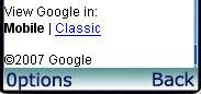 Google mobile wybor wersji