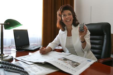 Nelli Rokita za mobilnym Internetem