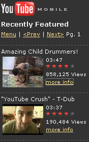 You Tube Mobile Demo